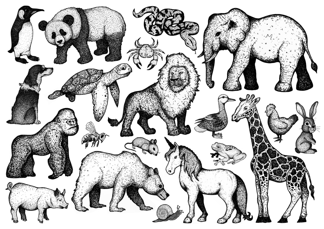 Hand-Drawn Animals